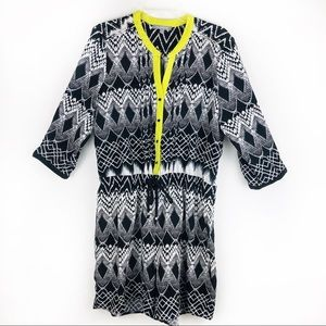 NY Collection 3/4 sleeve one piece romper sz XL